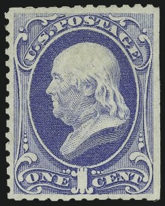 Sale Number 869, Lot Number 3135, 1875 Continental Bank Note Co. Special Printings1c Ultramarine, Special Printing (167), 1c Ultramarine, Special Printing (167)