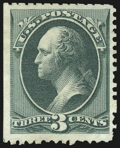 Sale Number 869, Lot Number 3137, 1875 Continental Bank Note Co. Special Printings3c Blue Green, Special Printing (169), 3c Blue Green, Special Printing (169)