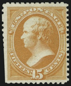 Sale Number 869, Lot Number 3140, 1875 Continental Bank Note Co. Special Printings15c Bright Orange, Special Printing (174), 15c Bright Orange, Special Printing (174)