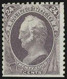 Sale Number 869, Lot Number 3141, 1875 Continental Bank Note Co. Special Printings24c Dull Purple, Special Printing (175), 24c Dull Purple, Special Printing (175)