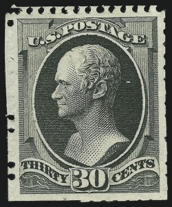 Sale Number 869, Lot Number 3142, 1875 Continental Bank Note Co. Special Printings30c Greenish Black, Special Printing (176), 30c Greenish Black, Special Printing (176)