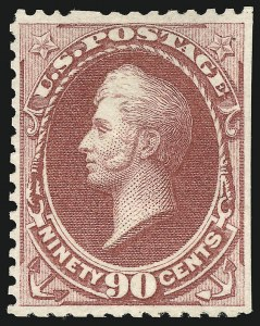 Sale Number 869, Lot Number 3143, 1875 Continental Bank Note Co. Special Printings90c Violet Carmine, Special Printing (177), 90c Violet Carmine, Special Printing (177)