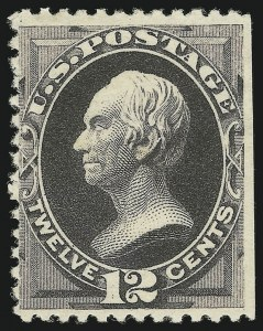 Sale Number 869, Lot Number 3149, 1880 American Bank Note Co. Special Printing12c Blackish Purple, Special Printing (198), 12c Blackish Purple, Special Printing (198)