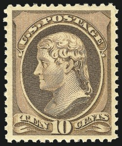 Sale Number 869, Lot Number 3154, 1870-88 Bank Note Issues (Scott 209-218)10c Brown (209), 10c Brown (209)
