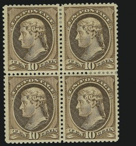 Sale Number 869, Lot Number 3155, 1870-88 Bank Note Issues (Scott 209-218)10c Brown (209), 10c Brown (209)