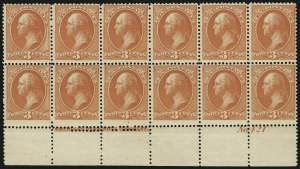 Sale Number 869, Lot Number 3159, 1870-88 Bank Note Issues (Scott 209-218)3c Vermilion (214), 3c Vermilion (214)