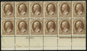 Sale Number 869, Lot Number 3161, 1870-88 Bank Note Issues (Scott 209-218)30c Orange Brown (217), 30c Orange Brown (217)