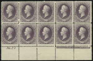 Sale Number 869, Lot Number 3162, 1870-88 Bank Note Issues (Scott 209-218)90c Purple (218), 90c Purple (218)