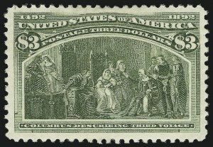 Sale Number 869, Lot Number 3167, 1893 Columbian Issue$3.00 Columbian (243), $3.00 Columbian (243)