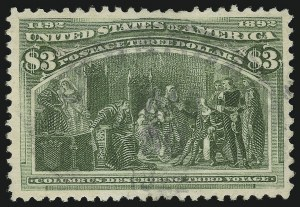 Sale Number 869, Lot Number 3168, 1893 Columbian Issue$3.00 Columbian (243), $3.00 Columbian (243)