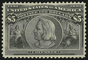 Sale Number 869, Lot Number 3170, 1893 Columbian Issue$5.00 Columbian (245), $5.00 Columbian (245)