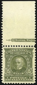Sale Number 869, Lot Number 3191, 1902-08 Issues15c Olive Green (309), 15c Olive Green (309)