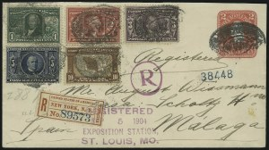 Sale Number 869, Lot Number 3198, Louisiana Purchase1c-10c Louisiana Purchase (323-327), 1c-10c Louisiana Purchase (323-327)