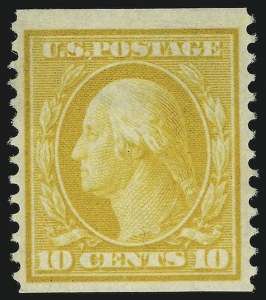 Sale Number 869, Lot Number 3200, 1908-10 Issue including Bluish Paper10c Yellow, Coil (356), 10c Yellow, Coil (356)