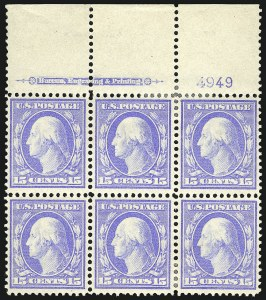 Sale Number 869, Lot Number 3206, 1908-10 Issue including Bluish Paper15c Pale Ultramarine, Bluish (366), 15c Pale Ultramarine, Bluish (366)