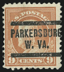 Sale Number 869, Lot Number 3242, 1910-22 Issues (Scott 460 thru 547)9c Salmon Red, Perf 10 at Bottom (509a), 9c Salmon Red, Perf 10 at Bottom (509a)