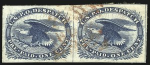 Sale Number 869, Lot Number 3305, Carriers and Locals1c Blue, Eagle Carrier (LO2), 1c Blue, Eagle Carrier (LO2)