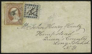 Sale Number 869, Lot Number 3306, Carriers and Locals(Honour's) City Post, Charleston S.C., 2c Black (4LB3), (Honour's) City Post, Charleston S.C., 2c Black (4LB3)