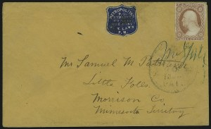 Sale Number 869, Lot Number 3321, Carriers and LocalsMetropolitan Post Office, New York N.Y., 1c Blue (108L5), Metropolitan Post Office, New York N.Y., 1c Blue (108L5)