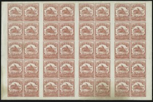 Sale Number 869, Lot Number 3329, Carriers and LocalsWells, Fargo & Co. Pony Express, 25c Red (143L9), Wells, Fargo & Co. Pony Express, 25c Red (143L9)