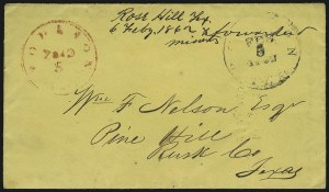 Sale Number 869, Lot Number 3345, Confederate PostmastersHouston Tex., 5c Red entire (40XU1), Houston Tex., 5c Red entire (40XU1)