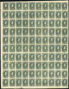 Sale Number 869, Lot Number 3351, Confederate States General Issues5c Green, Stone 1 (1), 5c Green, Stone 1 (1)