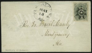 Sale Number 869, Lot Number 3358, Confederate States General Issues5c Green, Stone 1 (1), 5c Green, Stone 1 (1)