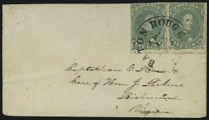 Sale Number 869, Lot Number 3359, Confederate States General Issues5c Green, Stone 1, Baton Rouge Roulette (1 var), 5c Green, Stone 1, Baton Rouge Roulette (1 var)