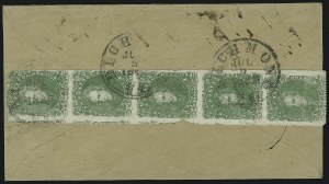 Sale Number 869, Lot Number 3365, Confederate States General Issues2c Bright Yellow Green (3a), 2c Bright Yellow Green (3a)