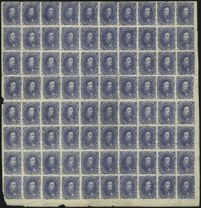 Sale Number 869, Lot Number 3366, Confederate States General Issues5c Blue, Stone 2 (4), 5c Blue, Stone 2 (4)