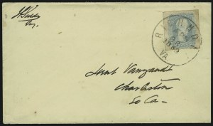 "Sale Number 869, Lot Number 3370, Confederate States General Issues10c Milky Blue, ""TEN"" (9a), 10c Milky Blue, ""TEN"" (9a)"