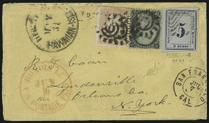 Sale Number 869, Lot Number 3390, Hawaii1865, 5c Blue on Blue (21), 1865, 5c Blue on Blue (21)