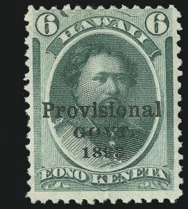 Sale Number 869, Lot Number 3393, Hawaii1893, 6c Green (66C), 1893, 6c Green (66C)