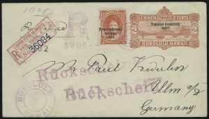 Sale Number 869, Lot Number 3395, Hawaii1893, $1.00 Rose Red, Provisional Govt. Overprint (73), 1893, $1.00 Rose Red, Provisional Govt. Overprint (73)