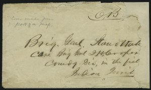 Sale Number 870, Lot Number 1241, Confederate Indian Territory UsagesO.B, O.B
