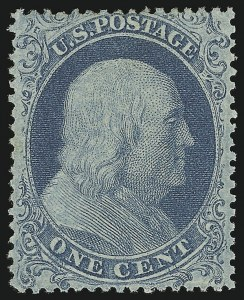 Sale Number 870, Lot Number 49, 1c 1857-60 Issue1c Blue, Ty. I, Double Transfer (18 var), 1c Blue, Ty. I, Double Transfer (18 var)
