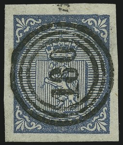 Sale Number 871, Lot Number 2274, General Foreign Stamps and Covers (Norway thru Switzerland)NORWAY, 1855, 4s Blue (1), NORWAY, 1855, 4s Blue (1)