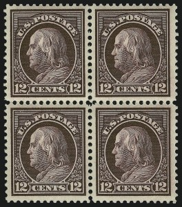 Sale Number 872, Lot Number 994, Washington-Franklin Issues (Scott 405 to 423)12c Claret Brown (417), 12c Claret Brown (417)