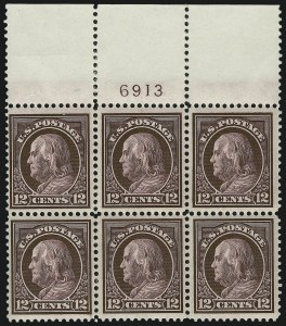 Sale Number 872, Lot Number 995, Washington-Franklin Issues (Scott 405 to 423)12c Claret Brown (417), 12c Claret Brown (417)