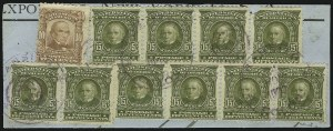 Sale Number 873, Lot Number 3042, Issued Stamps15c Olive Green (309), 15c Olive Green (309)