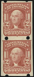 Sale Number 873, Lot Number 3059, Private Vending and Affixing Machine Perforations2c Carmine, Brinkerhoff Ty. II Perfs (320 II), 2c Carmine, Brinkerhoff Ty. II Perfs (320 II)