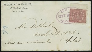 Sale Number 875, Lot Number 1204, Independent Mails and Local PostsGuy's City Despatch, Philadelphia Pa., (1c) Pink (74L1), Guy's City Despatch, Philadelphia Pa., (1c) Pink (74L1)