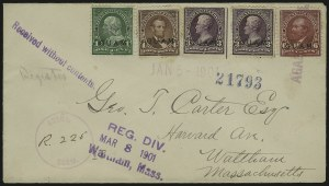 Sale Number 875, Lot Number 1229, Guam1899, 1c-6c Regular Issue (1, 3, 4, 6), 1899, 1c-6c Regular Issue (1, 3, 4, 6)
