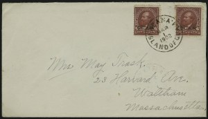 Sale Number 875, Lot Number 1242, Guam1899, 5c Lake (6), 1899, 5c Lake (6)