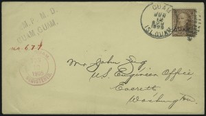 Sale Number 875, Lot Number 1243, Guam1899, 10c Brown, Ty. I (8), 1899, 10c Brown, Ty. I (8)