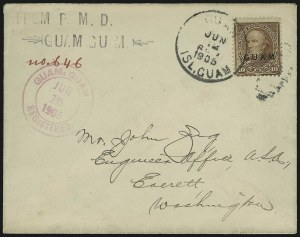 Sale Number 875, Lot Number 1244, Guam1899, 10c Brown, Ty. I (8), 1899, 10c Brown, Ty. I (8)