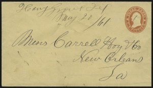 Sale Number 875, Lot Number 211, Independent & Confederate State Use of U.S. StampsHang Grove Tex. May 20, 1861, Hang Grove Tex. May 20, 1861