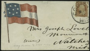 Sale Number 875, Lot Number 213, Independent & Confederate State Use of U.S. Stamps3c Dull Red, Ty. II (26), 3c Dull Red, Ty. II (26)