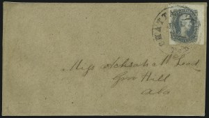 "Sale Number 875, Lot Number 309, General Issues on Cover10c Gray Blue, ""TEN"" (9), 10c Gray Blue, ""TEN"" (9)"