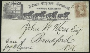 Sale Number 875, Lot Number 357, Federal UsagesAdams Express Co., Burnside Expedition, Adams Express Co., Burnside Expedition